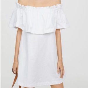 H&M Off Shoulder White Dress